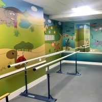 Exeter Paediatric fitting room with new artwork